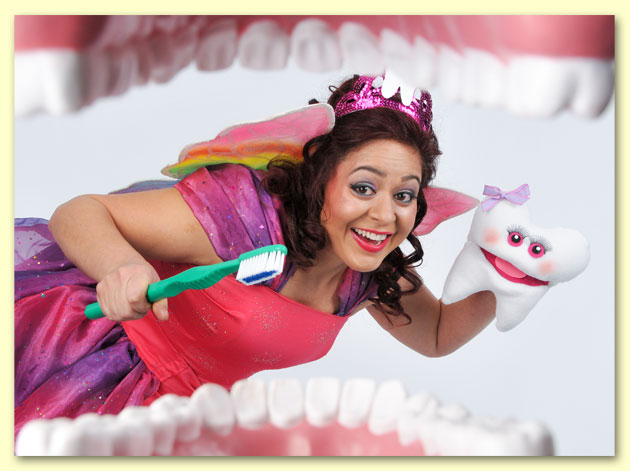 Photo of Bernadette as the Tooth Fairy