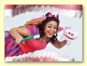 Photograph of Bernadette as the Tooth Fairy